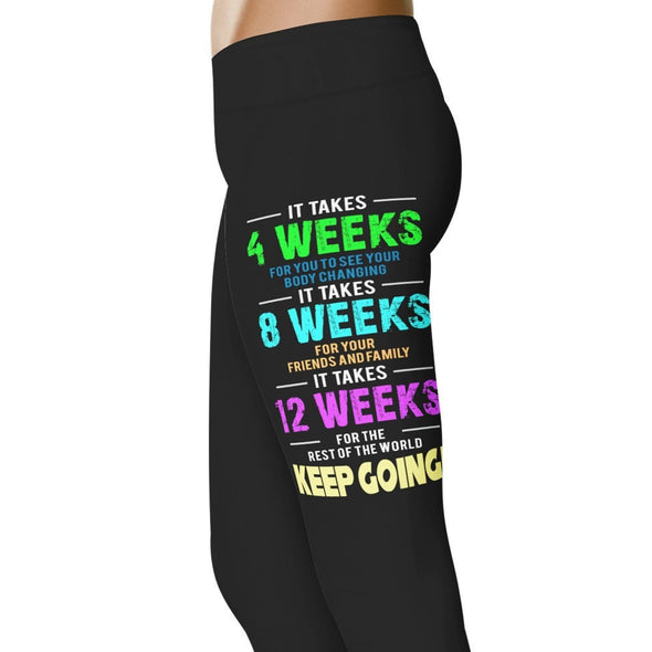YouStatement Fitness and Wit It Takes Time - Fitness and Wit Leggings