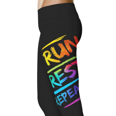 YouStatement Fitness and Wit Run Rest Repeat - Fitness and Wit Leggings