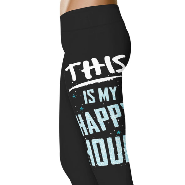 YouStatement Fitness and Wit This Is My Happy Hour - Fitness and Wit Leggings
