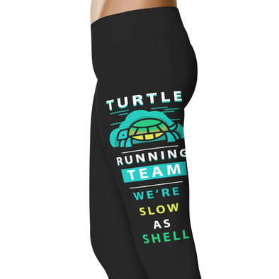 YouStatement Fitness and Wit Turtle Running Team - Fitness and Wit Leggings