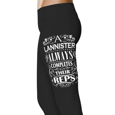 YouStatement Game Of Thrones A Lannister Always Completes Their Reps Leggings