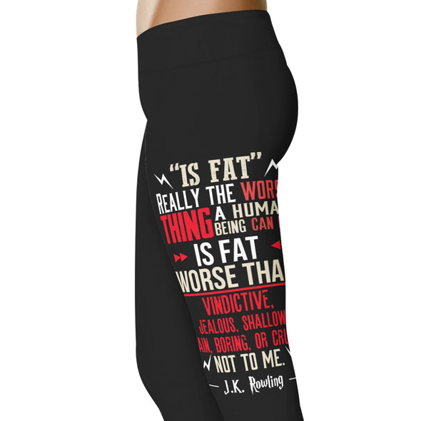 YouStatement HP Inspired J.K. Rowling Quote Leggings