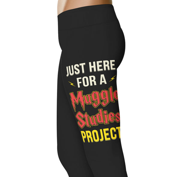 YouStatement HP Inspired Just Here For A Muggle Studies Project Leggings