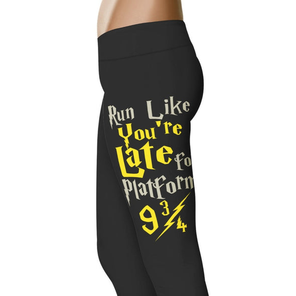 YouStatement HP Inspired Run Like You're Late For Platform 9 3/4 Leggings 2