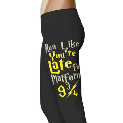 YouStatement HP Inspired Run Like You're Late For Platform 9 3/4 Leggings