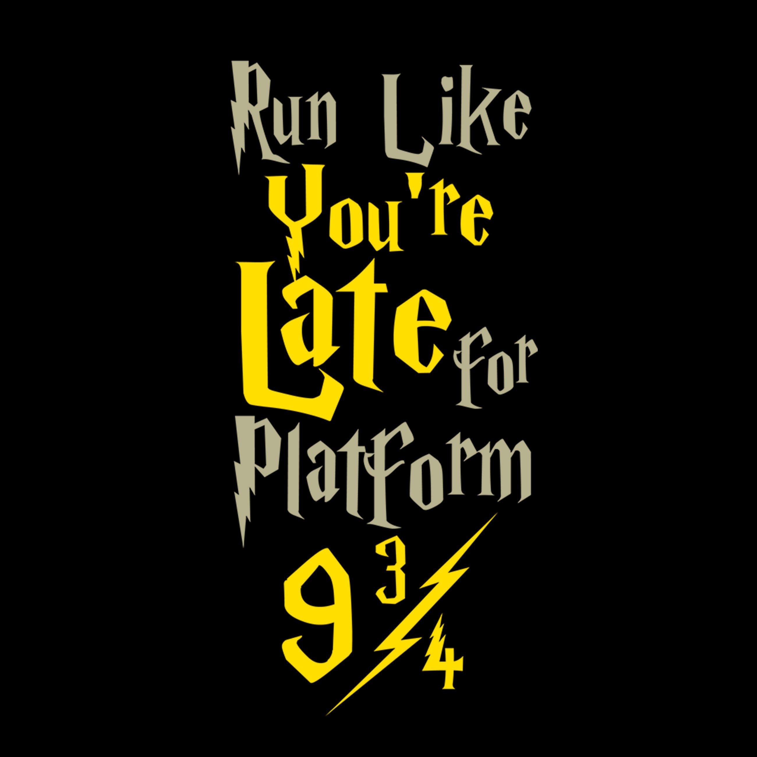 Run Like Youre Late For Platform 9 34 Leggings YouStatement