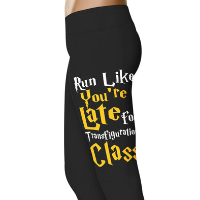 YouStatement HP Inspired Run Like You're Late For Transfiguration Class Leggings