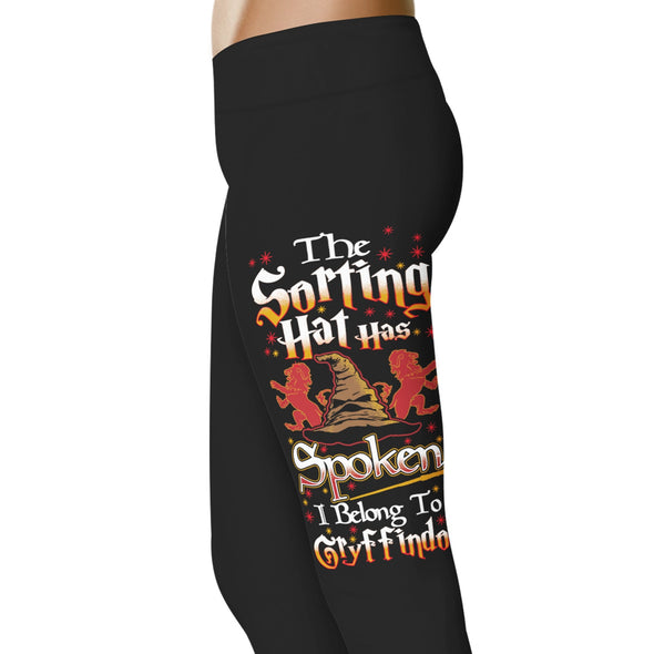 YouStatement HP Inspired The Sorting Hat Has Spoken, I Belong To Gryffindor Leggings