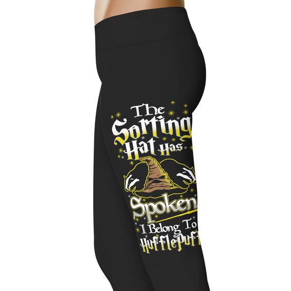 YouStatement HP Inspired The Sorting Hat Has Spoken, I Belong To Hufflepuff Leggings