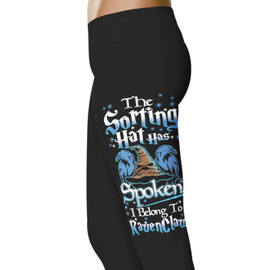 YouStatement HP Inspired The Sorting Hat Has Spoken, I Belong To Ravenclaw Leggings