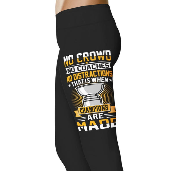YouStatement Hockey No Crowd, No Coaches - Hockey Leggings