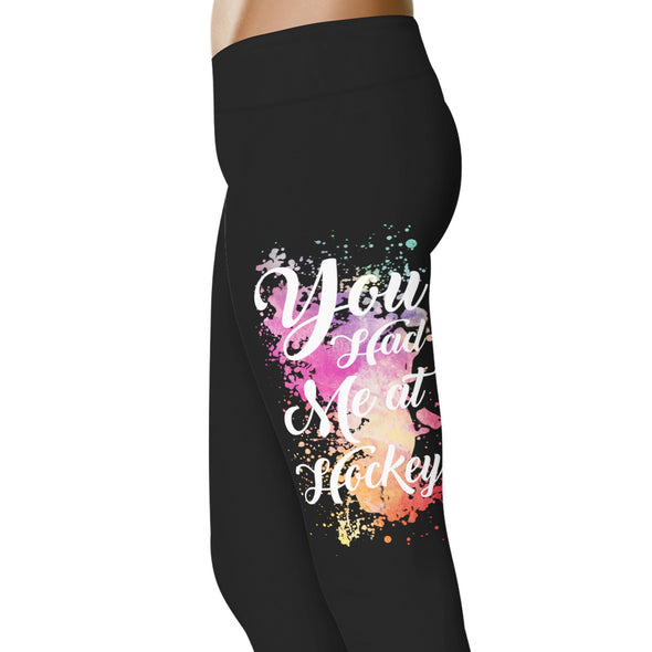 YouStatement Hockey You Had Me at Hockey - Hockey Leggings