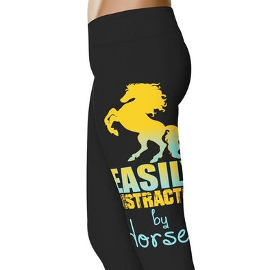 YouStatement Horses Easily Distracted By A Horse - Horse Leggings