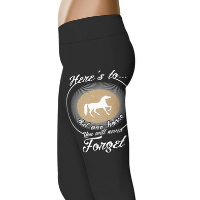 YouStatement Horses Here's to that one horse - Horse Leggings