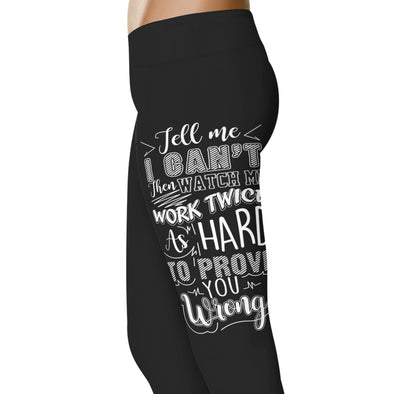 YouStatement Horses Tell Me I Can't, Then Watch Me - Horse Leggings