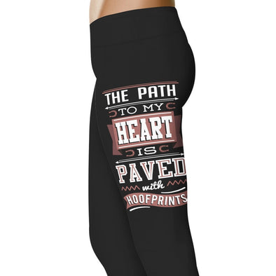 YouStatement Horses The Path To My Heart Is Paved With Hoofprints - Horse Leggings