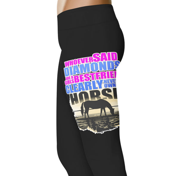 YouStatement Horses Whoever Said Diamonds - Horse Leggings