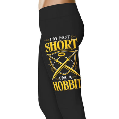 YouStatement Lord Of The Rings I'm Not Short I'm A Hobbit - Height Leggings