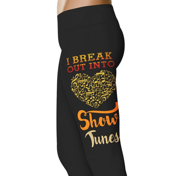 YouStatement Musical I Break Out Into Showtunes - Musical Leggings
