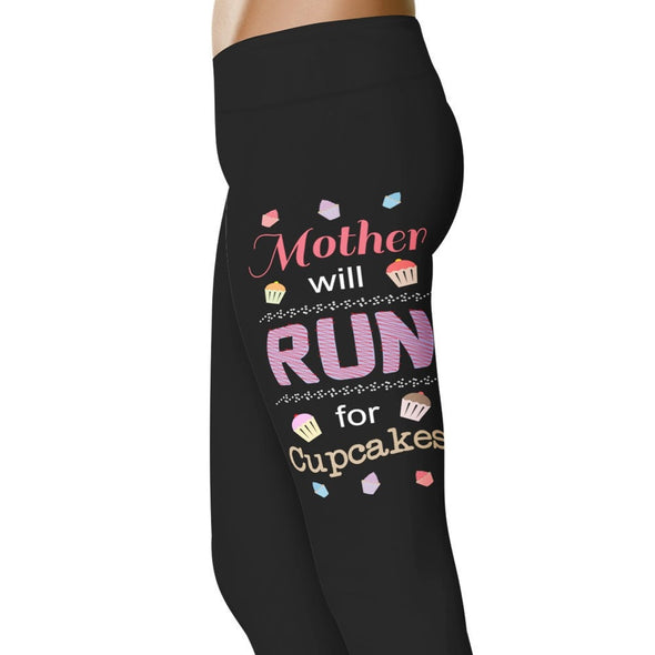 YouStatement Nurse Mother Will Run For Cupcakes - Mother Leggings