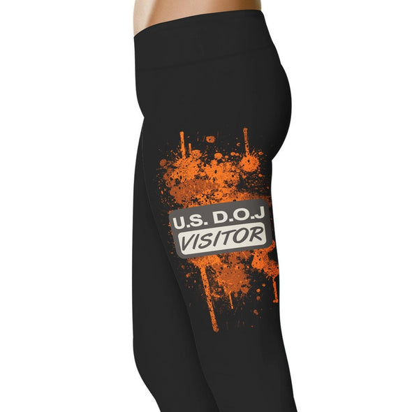 YouStatement Orange DOJ Visitor - Orange Leggings