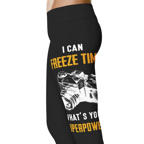 YouStatement Photography I Can Freeze Time What's Your Super Power? - Photography Leggings