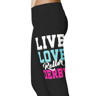 YouStatement Roller Derby Live Love Roller Derby - Roller Derby Leggings