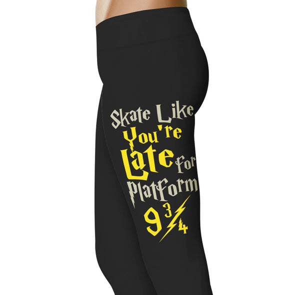 YouStatement Roller Derby Skate Like You're Late For Platform 9 3/4 - Roller Derby Leggings