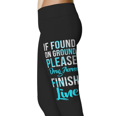 YouStatement Running Drag Me Across Finish Line - Running Leggings