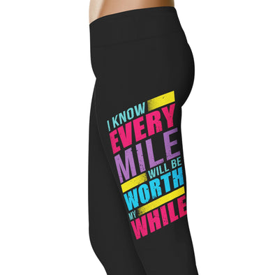YouStatement Running Every Mile, Worth While - Running Leggings