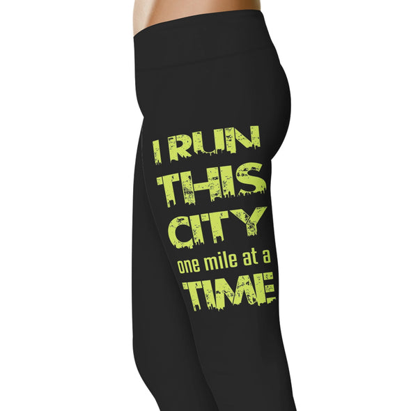 YouStatement Running I Run This City - Running Leggings