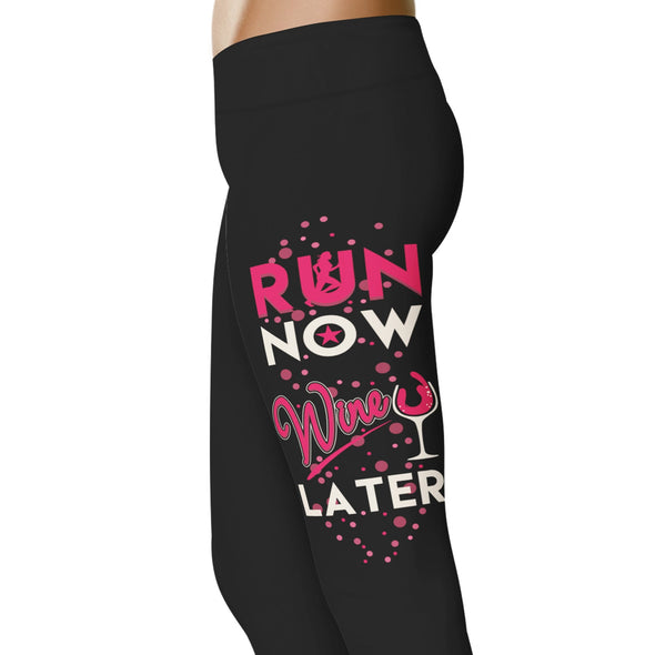 YouStatement Running Run Now, Wine Later - Running Leggings