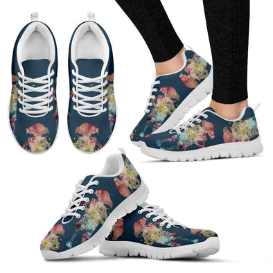 YouStatement Shoes Women's Sneakers - White - Dobby Water paint Art Sneakers - Women's / US5 (EU35) Dobby Watercolor Art - Sneakers