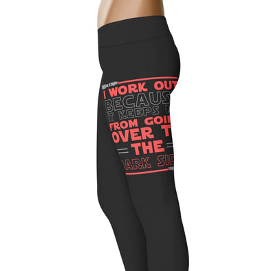 YouStatement SW inspired Inspired I Workout Because It Keeps Me From Going Over Leggings