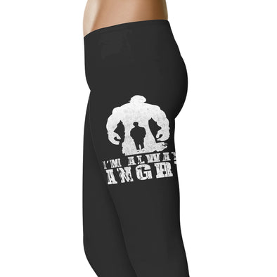 YouStatement Superhero inspired I'm Always Angry Leggings