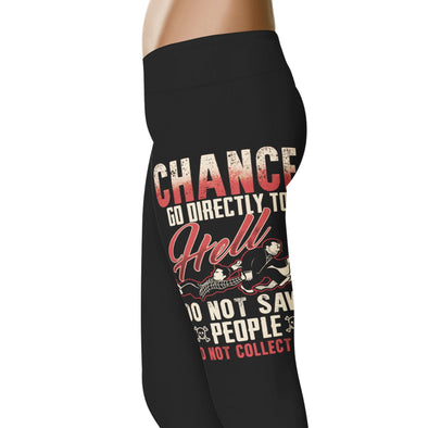 YouStatement Supernatural inspired Chance, Go Directly to Hell Leggings