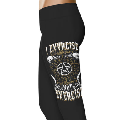YouStatement Supernatural inspired I Exorcise Not Exercise Leggings