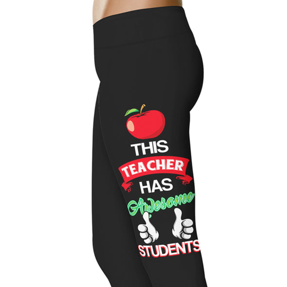 YouStatement Teacher This Teacher Has Awesome Students - Teacher Leggings