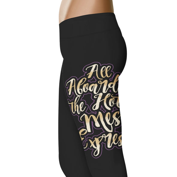YouStatement Wedding Excitement All Aboard The Hot Mess Express - Wedding Excitement Leggings