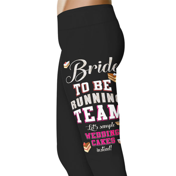 YouStatement Wedding Excitement Bride To Be Running Team - Wedding Excitement Leggings