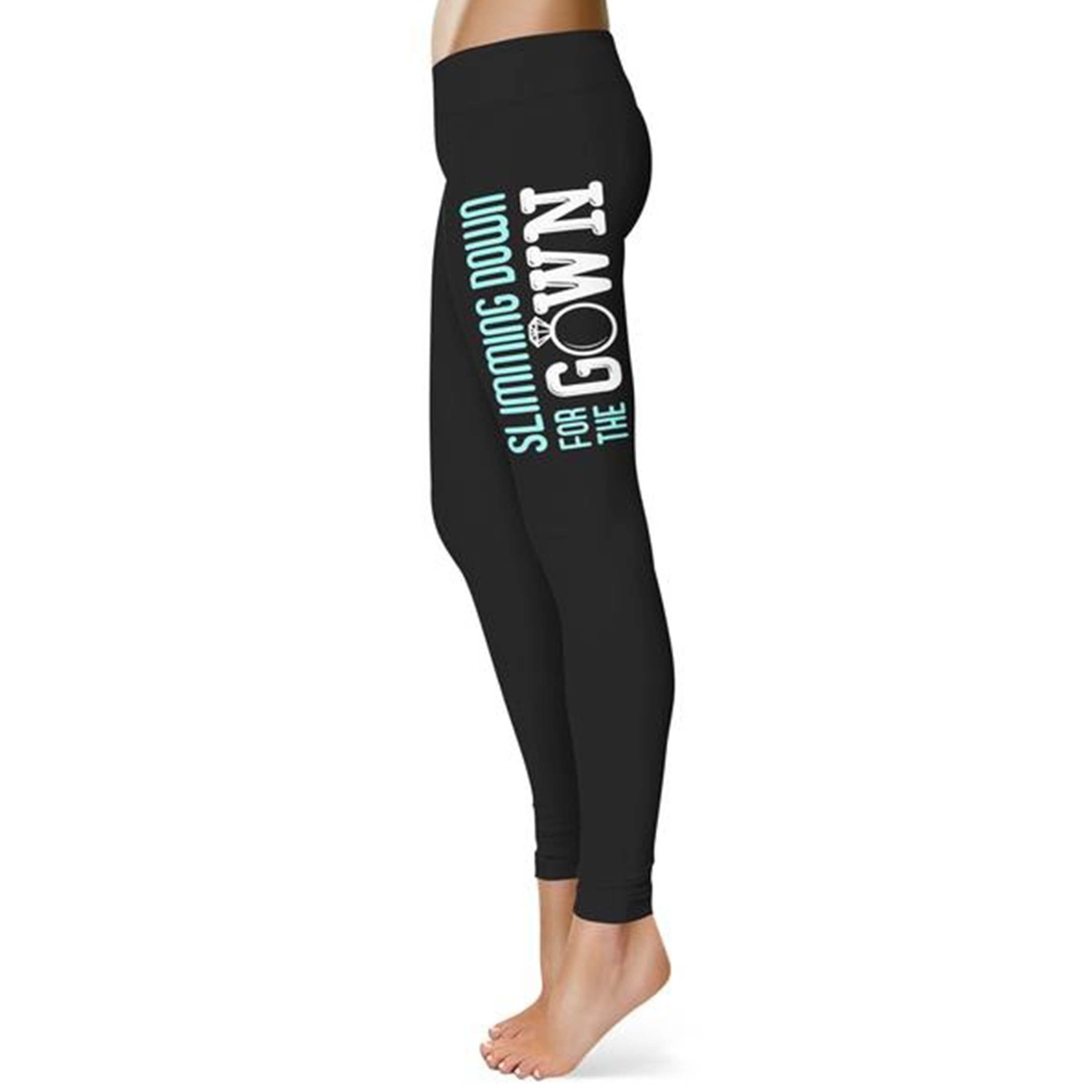 Slimming Down For The Gown Wedding Excitement Leggings