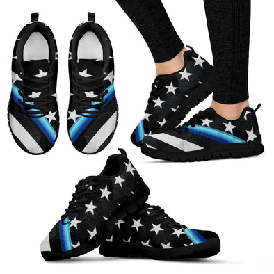 YouStatement Women's Sneakers - Black - Womens Sneakers Black Sole / US5 (EU35) Thin Blue Line Sneakers