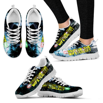 YouStatement Women's Sneakers - White - Best Wife In The Galaxy Sneakers - Womens / US5 (EU35) Best Wife In The Galaxy Sneakers