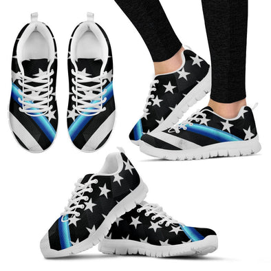 YouStatement Women's Sneakers - White - Womens Sneakers White Sole / US5 (EU35) Thin Blue Line Sneakers
