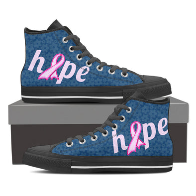 YouStatement Womens High Top - Black - Womens Hi-Tops Black / US6 (EU36) Hope (Cancer) - Shoes - Hi / low Tops, Sneakers and Casual