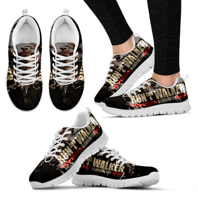 YouStatement Womens Shoes Women's Sneakers - White - Run Like A Walker Is Chasing You - Sneakers / US5 (EU35) Run Like A Walker Is Chasing You - Sneakers
