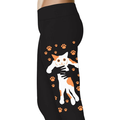 YouStatment Cat Holding Cat - Cat Leggings