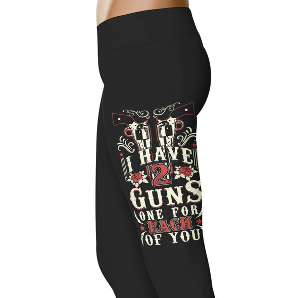 YouStatment Country Love I Have 2 Guns, One For Each Of You Leggings