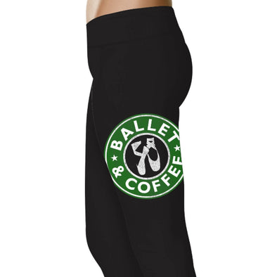 YouStatment Dancing Ballet and Coffee - Dance Leggings