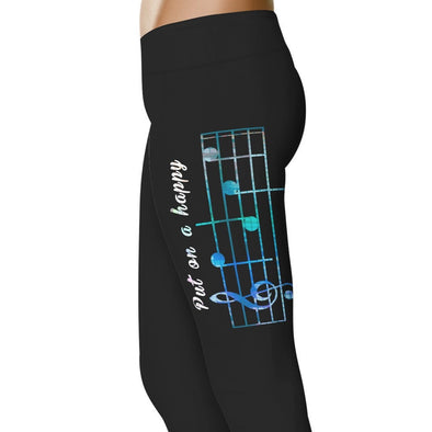 YouStatment Fitness and Wit Put On A Happy Face - Fitness and Wit Leggings